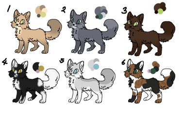 Cat Adopts! (0/6 CLOSED) by Foxyrulz