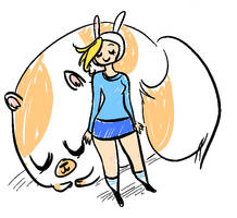Fionna and Cake by maggiekarp