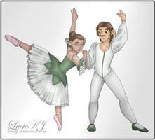 Austin and Jennifer - For MermaidGirlForever by LucieKJ
