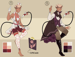 [CLOSED] [ITD] [AUCTION] PINK AND PURPLE by SpaceOwlAdoptables