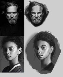 face studies by Ryv3x