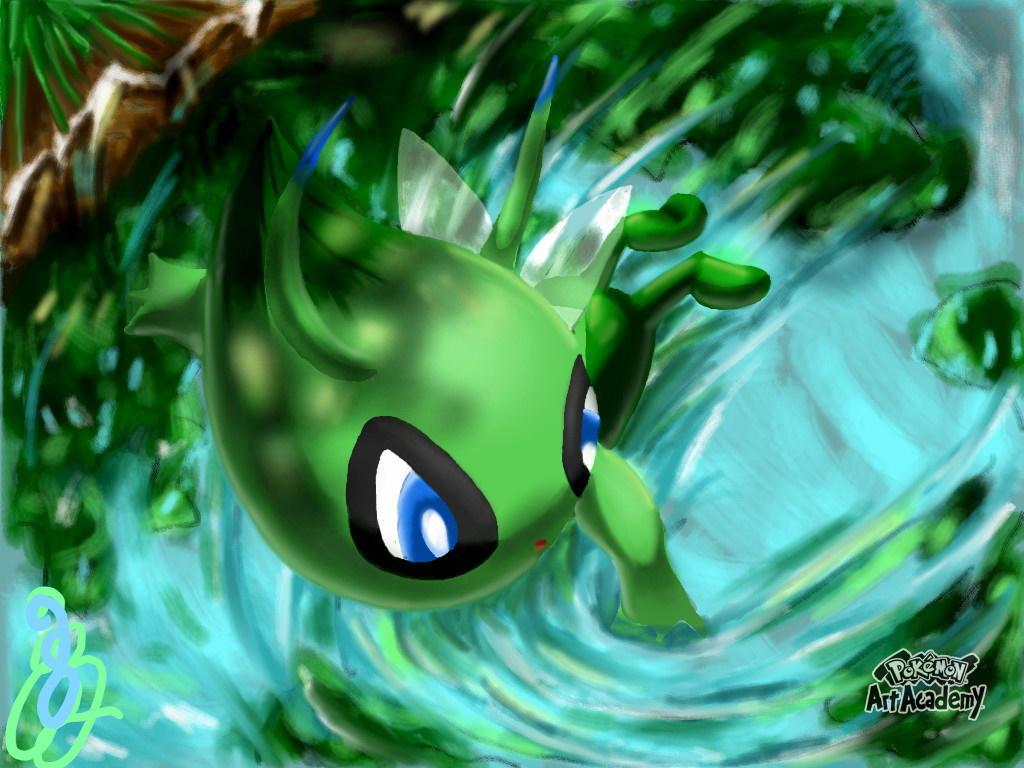 -Pokemon 20 Celebration- Celebi by BlazingFire909