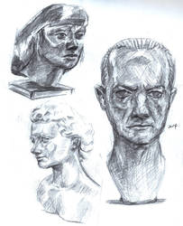 Bust Studies by PoorGent