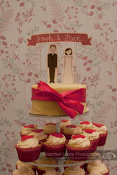 Frances and Josh's Wedding Cake by Distorted-Lenns