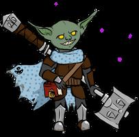 Friend's goblin Pathfinder character by Cinnomnomnom