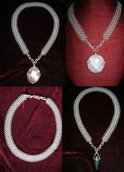 Sterling Chainmaille Necklace by MsJ777