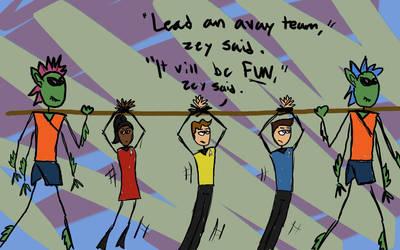 Stick Trek into Dorkness 1: Avay Team by deep-fathom