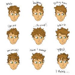 Chekov Hair Practice by deep-fathom