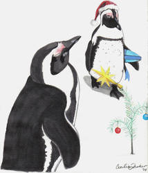 Penguins Christmas by apply72