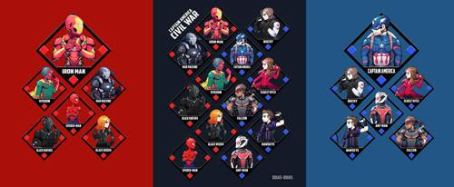 Marvel - Civil War designs by Quas-quas