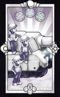 3 of Coins - Infantry and Tanks by Quas-quas