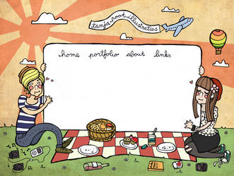 hipster picnic by beespit