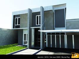House Exterior 3D 2b by marauderx666
