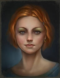 Girl with red hair. by FirstKeeper