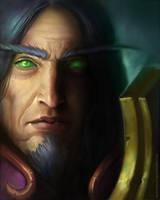 Blood elf portrait by FirstKeeper