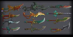 Daggers,swords MoP by FirstKeeper
