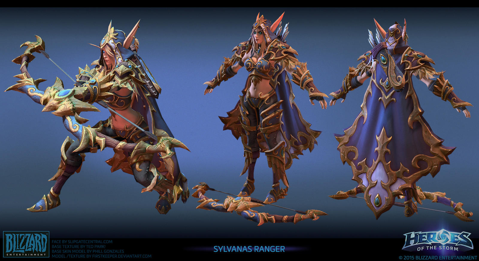 Sylvanas ranger Heroes of the Storm by FirstKeeper
