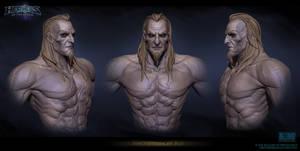 Necromancer Face Sculpt by FirstKeeper
