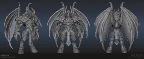 Malganis high poly by FirstKeeper