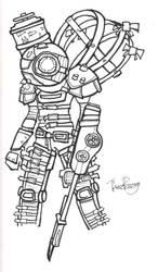 Big Sister Ink Sketch by SupaSoldier