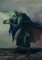 Goblin necromancer by BechArt