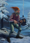 Nisse or Tomte by BechArt