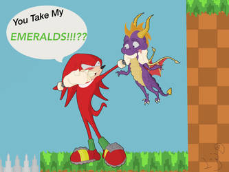 Knuckles The Debt Collecter by Spectral-Beanie