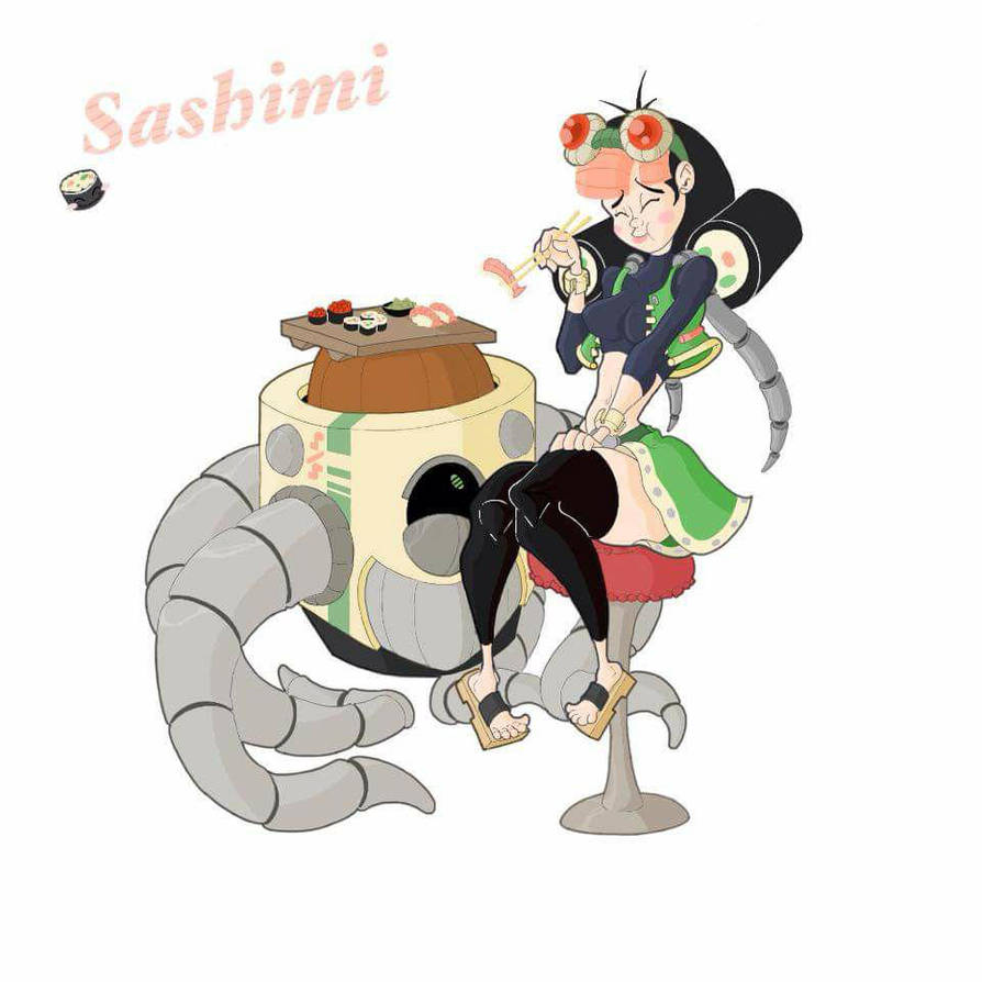 Sashimi, Sushi Queen by Spectral-Beanie