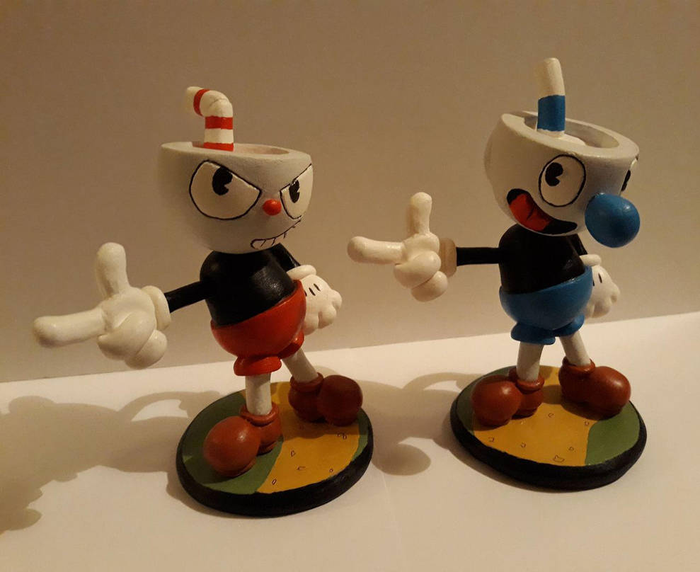 Cuphead Figurines by Spectral-Beanie