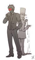 Professor Layton vs Godot by RealNoir13