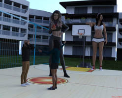 Game of Basketball by giantesslover45