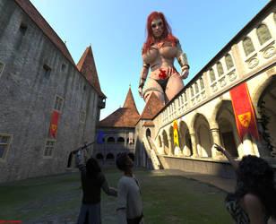 The Assault on Castle Zanifar by giantesslover45
