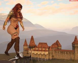 The Assault on Castle Zanifar 2 by giantesslover45