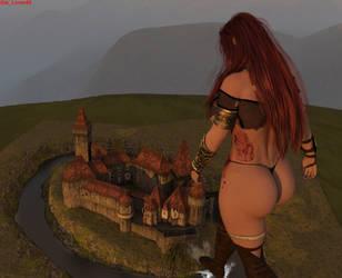The Assault on Castle Zanifar 3 by giantesslover45