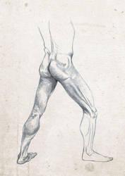 Anatomy Live Drawing Sketch Leg Study by SafdarAliMirza