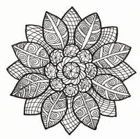 sun petal collab  black and white version by crazyruthie