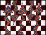 Snakes On The Chessboard by crazyruthie