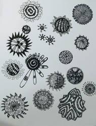 little mandala doodles by crazyruthie