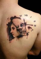 Skull tattoo by SteveToth89