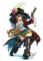 The mermaid pirate by bewareitbites