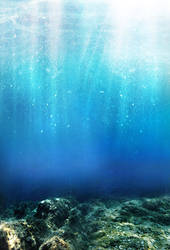 Underwater Stock - Premade Background by YaensArt