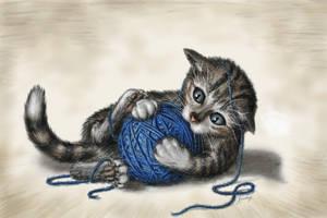 Playing Kitten by Lenka-Slukova