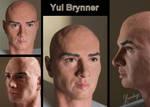 Yul Brynner - sculpture by Lenka-Slukova