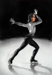 Johnny Weir on Ice by Lenka-Slukova