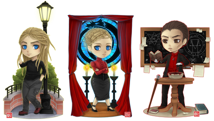 C - Kazimir , Varya and Tarcisus chibi by zero0810