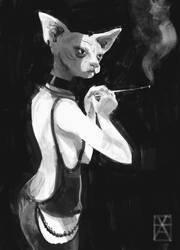 Cat Lady by kanovsky