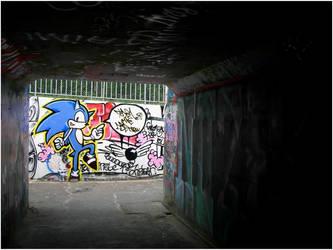 Sonic in da Street by dadouX