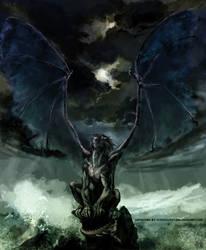 Umbra Dragon by wredwrat
