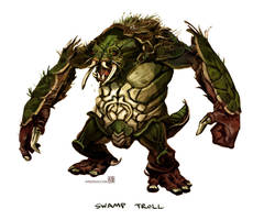 Swamp Troll by wredwrat