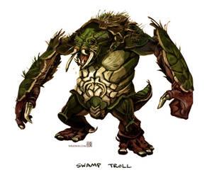 Swamp Troll by wredwrat